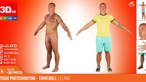 Turntable photoshooting reference of  Leland