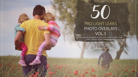50 Pro Light Leaks Photo Overlays - Vol. 3