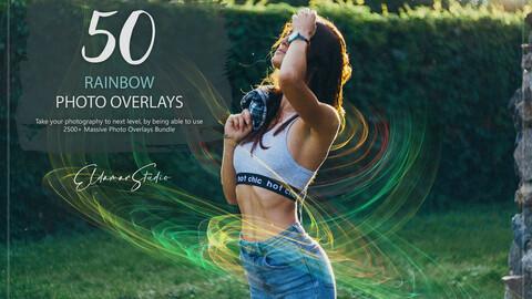 50 Rainbow Photo Overlays
