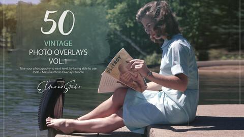 50 Vintage Photo Overlays - Vol. 1