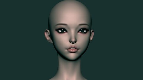 Female Head Version F for Zbrush 2021.6