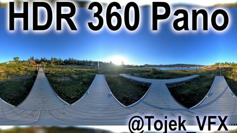 HDR 360 Panorama - Big Bear Lake CA - 105 The docks at Big Bear Frontier