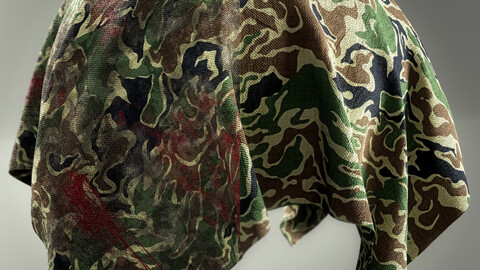 PBR - CAMOUFLAGE WAR FABRIC PACK 01 - 4K MATERIALS