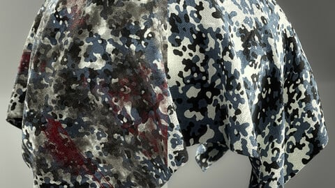 PBR - CAMOUFLAGE WAR FABRIC PACK 02 - 4K MATERIALS