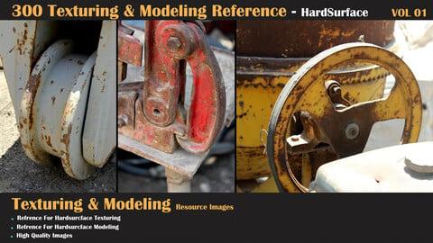 300 Texturing & Modeling Reference - HardSurface - VOL 01