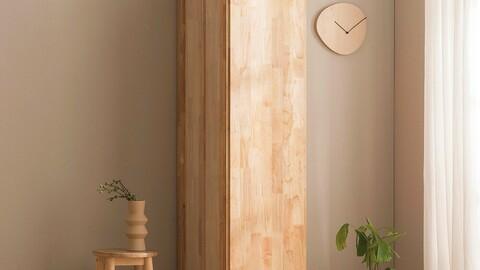 Durable rubberwood 400 solid wood wardrobe