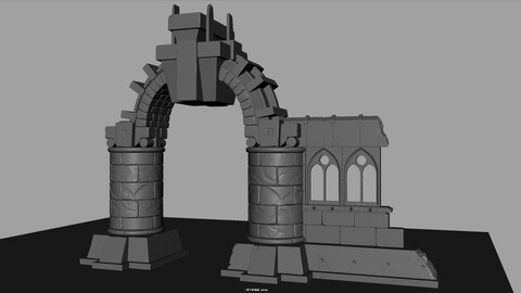Building ruin model