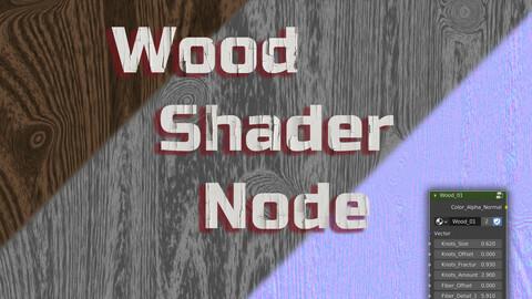 Procedural wood shader node for Blender 2.8+