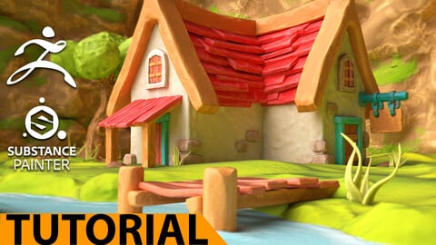 Mountain Cabin - ZBrush - Substance Painter - Over 8h  video tutorial