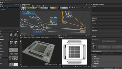 Substance Designer Tutorial Video  / Air Conditioner Panel
