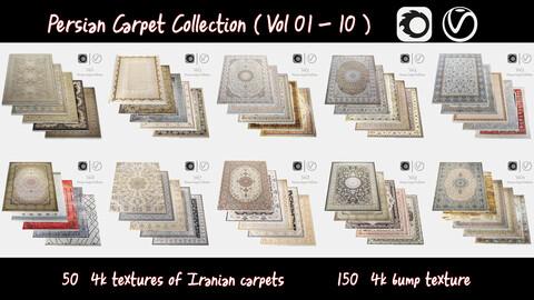 Persian Carpet Collection ( Vol 01 - 10 ) 4k texture