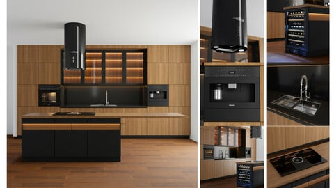 modern kitchen with island 004