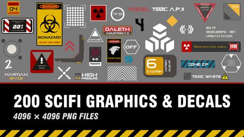 """ 200 SCIFI Graphics & Decals """
