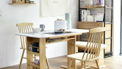 Via Expandable Storage Table Set