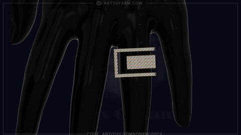 Antique Shield Diamond Ring | 3D cad for print, Pictures and Videos | #artsofsam #Jewelry