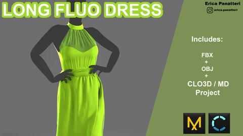 Long fluo dress