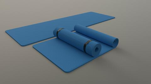 PBR Yoga Mat - Blue Light