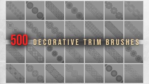 500 Decorative Trim Brushes