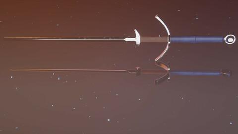 Medieval two handed zweihander sword