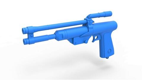 1:6 Cosplay 3D printable Blaster Pistol of Boba Fett from The Mandalorian TV series