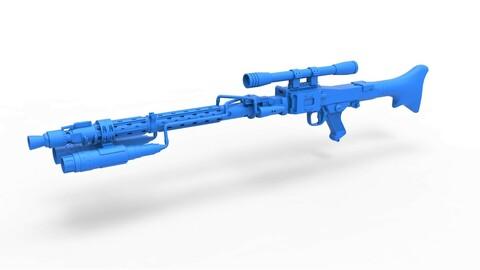 1:6 Cosplay 3D printable Death Trooper Blaster Rifle DLT-19D from Star Wars