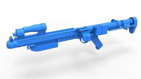 1:6 Cosplay 3D printable Range trooper Blaster rifle E-10R from the movie Solo A Star Wars Story 2018