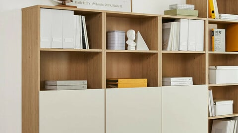 onion Maple 4-Step Bookcase Door Type 600