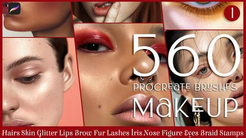 Procreate Brushes: 560+ Makeup Brushes for procreate, face brushes, procreate, procreate brushes, procreate brush, makeup brushes