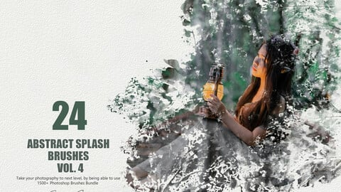 24 Abstract Splash Brushes - Vol. 4