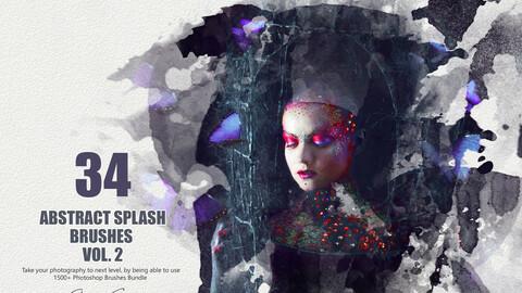 34 Abstract Splash Brushes - Vol. 2