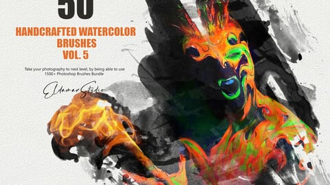 50 Handcrafted Watercolor Brushes - Vol. 5