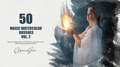50 Magic Watercolor Brushes - Vol. 2