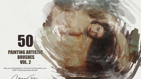 50 Painting Artistic Brushes - Vol. 2