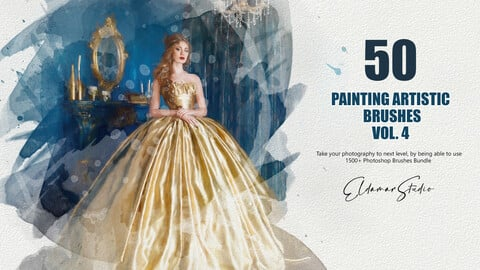 50 Painting Artistic Brushes - Vol. 4