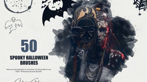 50 Spooky Halloween Brushes