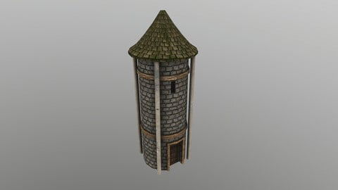 Medieval Grain Silo 3D Model