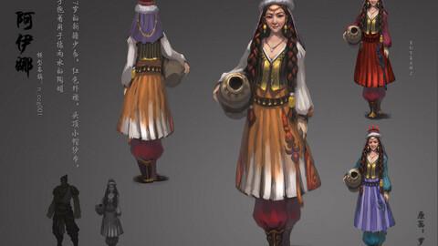Low poly 3D Women - Ainina