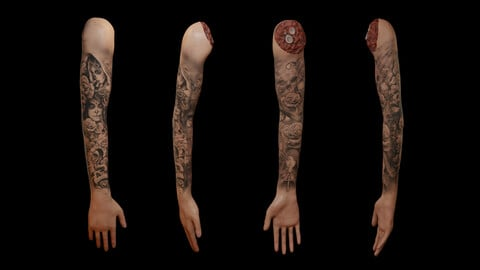 Severed Arm - Rigged