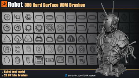 Robot | 380 Hard Surface VDM Brushes for Zbrush