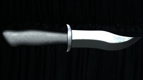 knife PBR low poly game ready Low-poly 3D model