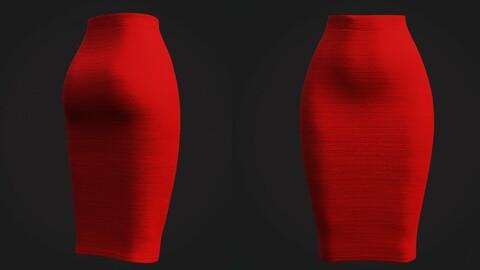 3D Female skirt - stretch pencil skirt