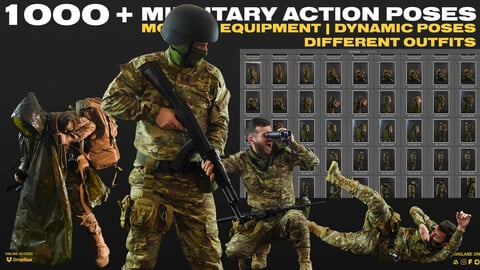 1000+ Military Action POSES , Modern equipment , Dynamic poses | Different Outfits