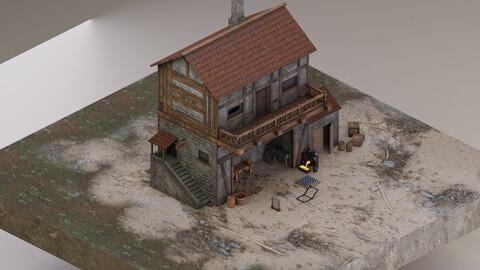 Medieval Trap Workshop 3D Model