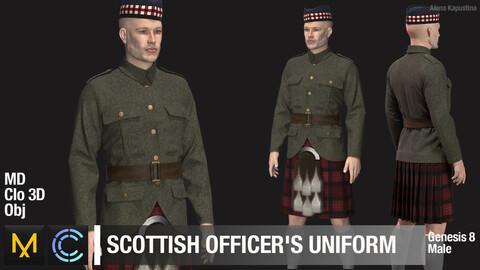 WWII SCOTTISH OFFICER'S UNIFORM / / Marvelous Designer / Clo 3D project + obj
