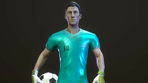 Low-poly model of the character Football Player