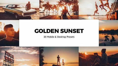20 Golden Sunset LUTs and Lightroom Presets