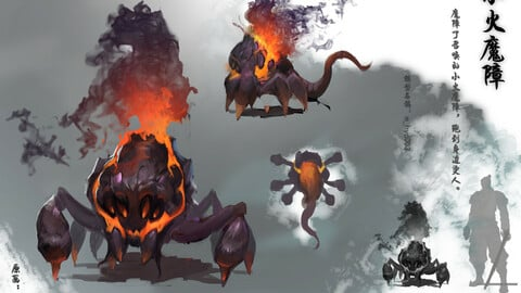 Low poly 3D Monster - Little Devil