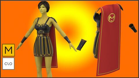 Gladiator Female 3D model