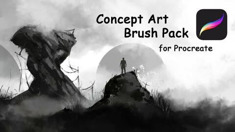Concept Art Brush Pack for Procreate