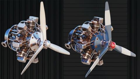 Hard Surface Kitbash + Airplane Engine and Robot Limbs